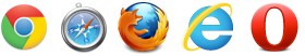 Tested and supported in Chrome, Safari, Internet Explorer, and Firefox