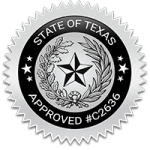Texas Adult Drivers Ed Course C2636 seal.