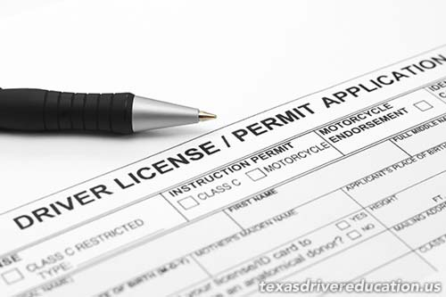 Texas learners permit and drivers license.